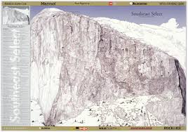 Telluride Colorado Map by El Capitan Climbing Maps Poster Diamond Productions