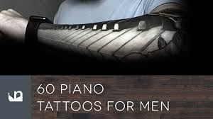 60 piano tattoos for men youtube