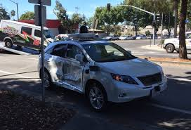lexus rx red google autonomous car gets punted by red light runner