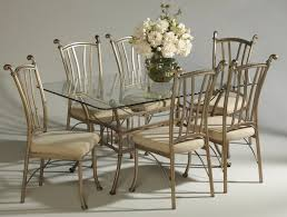 wrought iron dining room table dining room vintage dining room furniture of rectangular glass