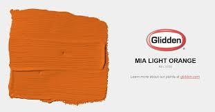 mia light orange paint color glidden paint colors