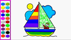 how to draw sailing boat coloring pages sailing boat kids learn