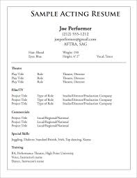 Performance Resume Sample by Theatre Resume Template Theatre Resume Roland Dubois Theatre