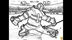 hockey goalie coloring pages nhl goalie coloring pages hockey