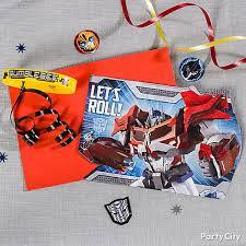transformers invite with favor idea invitation u0026 thank you ideas