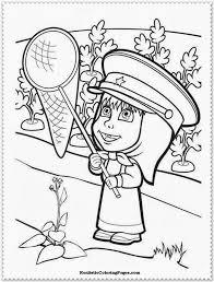 masha u0026 the bear coloring pages for kids u2013 free printables