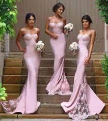 spaghetti strap mermaid bridesmaid dresses for wedding guest dress