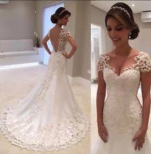 wedding dresses uk mermaid trumpet cap sleeve wedding dresses ebay
