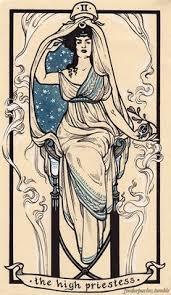 the high priestess card tarot cards diy pinterest tarot