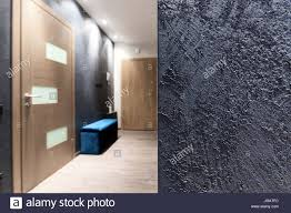 interior design element rough gray wall texture in a hall stock