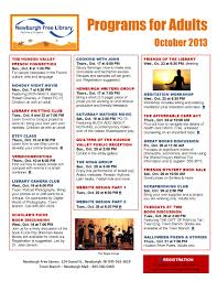 october events flyer newburgh free library