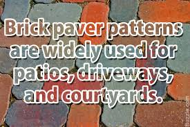basic yet beautiful brick paver patterns to choose from