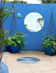 Garden Wall Paint Ideas Striking Garden Wall Interessante Blou Tuinmuur Garden Wall