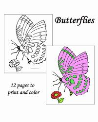 butterfly coloring pages sheets pictures