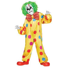 clown costumes kids color change killer clown costume scary clown costumes