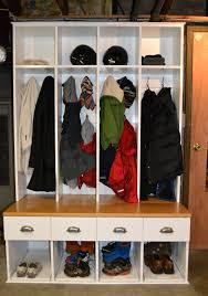 Mudroom Cabinets by Diy Mudroom Lockers An Old Locker With A Few Doors Removed And