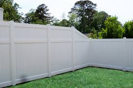 wonderful modern white painted vinyl fence for backyard feature