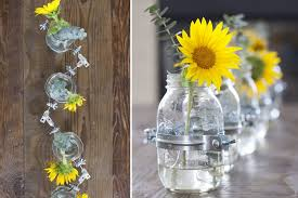 jar vases creating a decorative table centerpiece of jar vases
