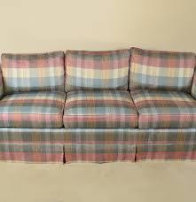 Clayton Marcus Sofas Clayton Marcus Striped Upholstered Sofa Ebth