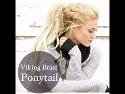 how to do viking hair viking braid and ponytail with clip in extension tutorial youtube