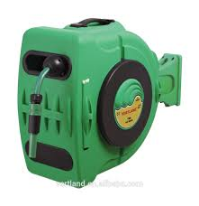 28m 1 2inch wall mounted auto rewind water garden hose reel with