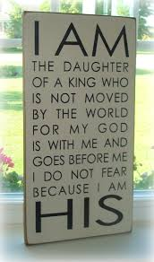 large hand painted wood sign board i am the daughter of a