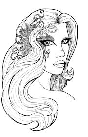 39 best fanciful faces coloring images on pinterest