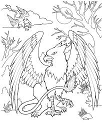 chic and creative mythical creatures coloring pages mythical