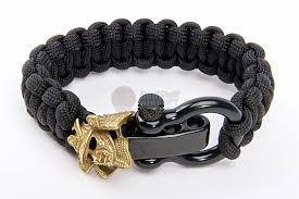 bracelet gold black images Airsoft surgeon samurai paracord bracelet gold emblem black jpg