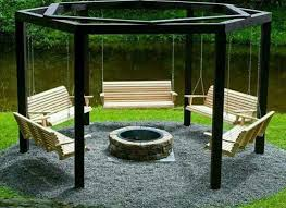 Backyard Cing Ideas For Adults Backyard Swings For Adults With Pit Design Porches Swings