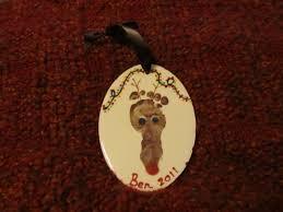 baby foot reindeer ornament crafty creations pinterest