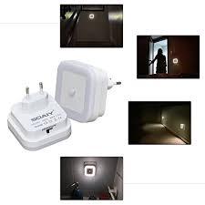 steckdosenlicht kinderzimmer soaiy 2er set led nachtlicht mit bewegungsmelder energiesparend