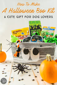 how to create a halloween boo kit a dog gift basket for halloween