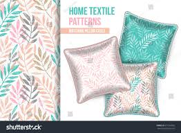 matching patterns pattern set 3 matching decorative throw stock vector 671516056