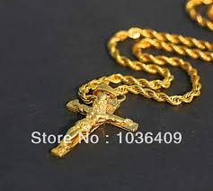 cross chain necklace gold images Gold mens gold chain with jesus pendant jpg