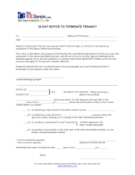 30 Day Notice Of Termination cover letter termination of lease letter from landlord to tenant