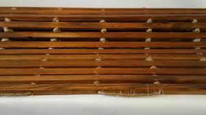Bath Mat Wood Meditation Mat Roll Up Ceder Mat Bathroom Mat Wooden