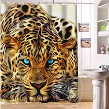sale custom leopard and tiger animal print shower curtain bath