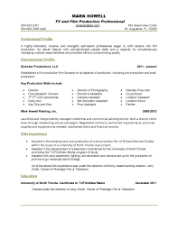 Photography Resume Example by Academic Skill Conversion Film And Television Production Sample