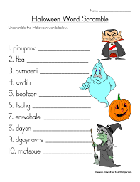 word scramble worksheets teaching