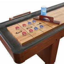 Shuffle Board Tables 12 U0027 Deluxe Dark Cherry Shuffleboard Table Gametablesonline Com