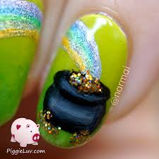 piggieluv st patrick u0027s day nail art hpb linkup