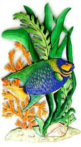 Tropical Decor 222 Best Tropical Fish Designs Painted Metal Home Decor