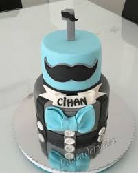 little man 1st moustache birthday cake made by sweetsbysuzie in