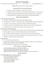 Pictures Of Resumes Examples by Resume Examples For Customer Service Position Sample Resume For