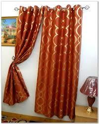 Burnt Orange Sheer Curtains Orange Curtains Target Teawing Co