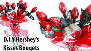 valentine u0027s day d i y hershey u0027s kisses bouquets youtube