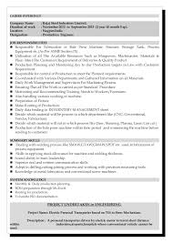 experience resume for production engineer nasim internationalfabrication resume
