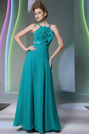 chiffon halter long floral teal prom dresses 2016 chiffon halter