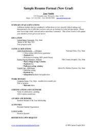 sample resume new graduate nurse practitioner background checks